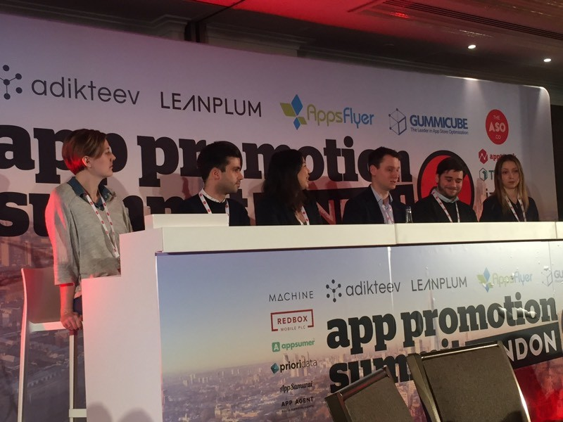 Panel discussion including Inga Meskauskaite from Appsumer at App Promotion Summit London 2018 discussing the future of mobile growth